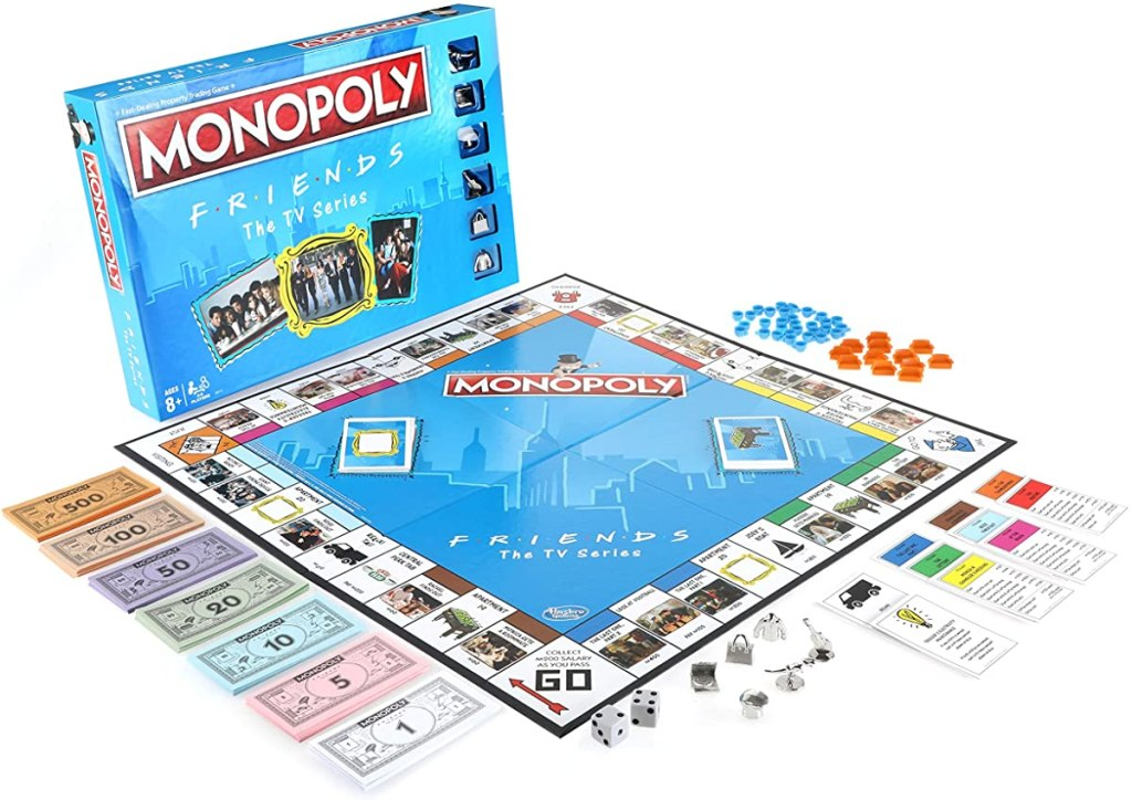 Monopoly Friends board game and box