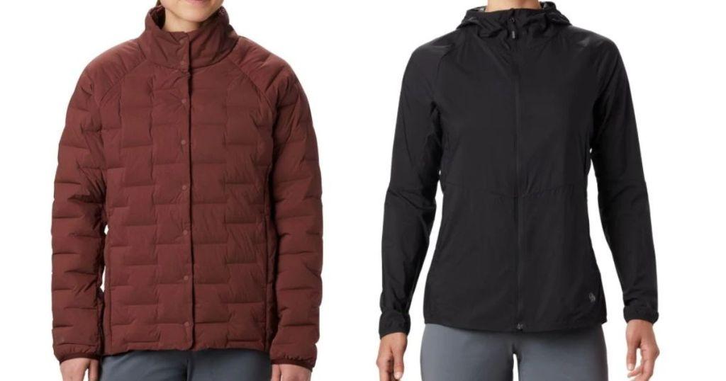 two women wearing jackets