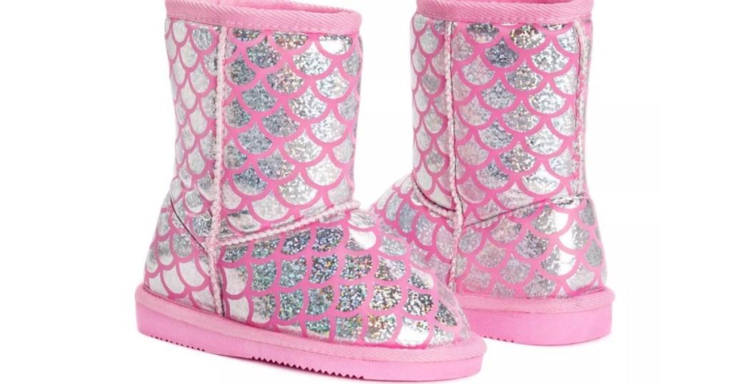 Muk Luks Mermaid Boots stock photo