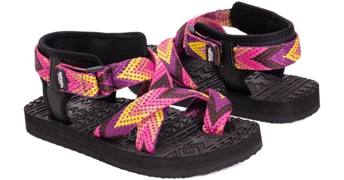 pink chevron sandals