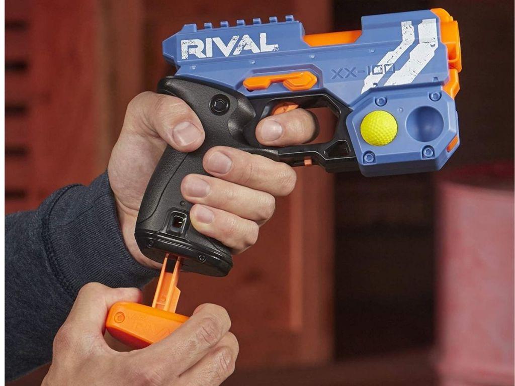hand reloading Rival NERF gun