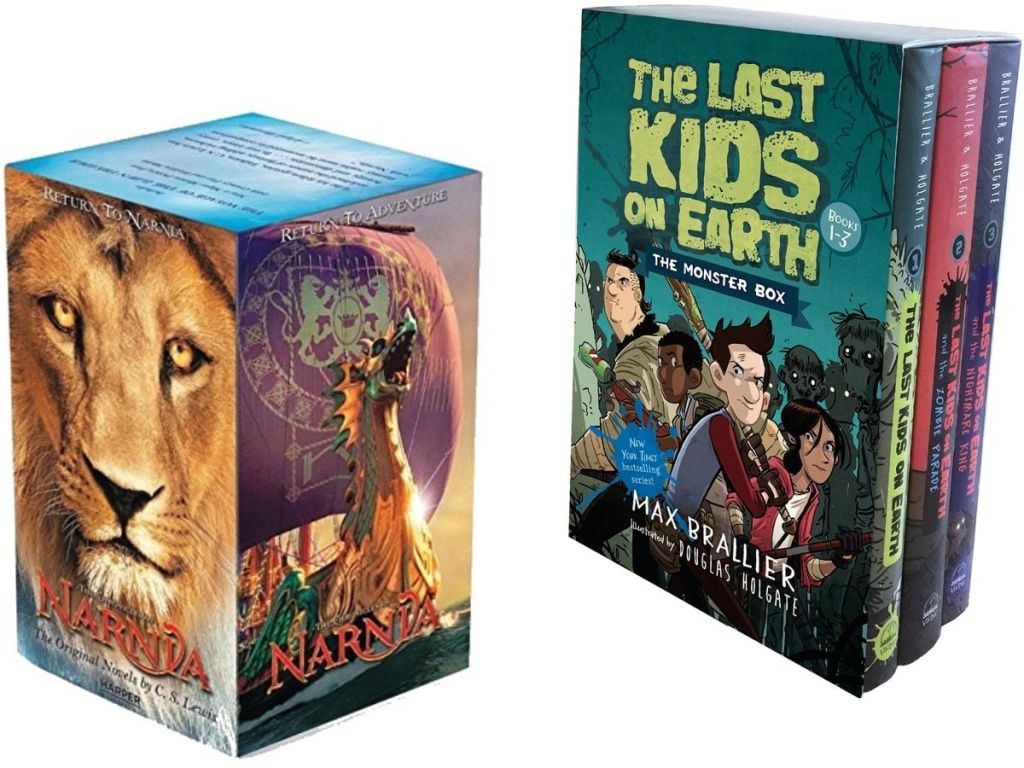 Chronicals of Narnia and Last kids on earth book box sets