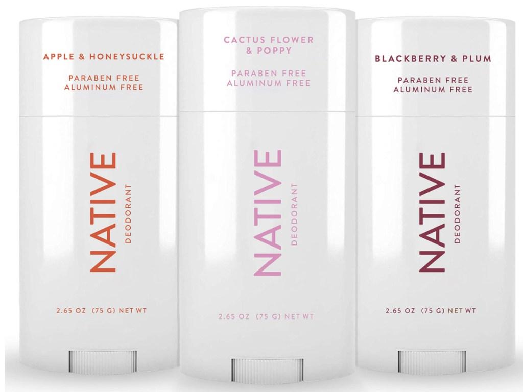 3 native deodorants