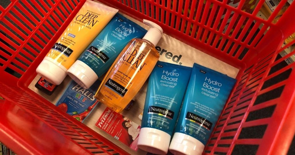 Neutrogena Skincare in CVS basket