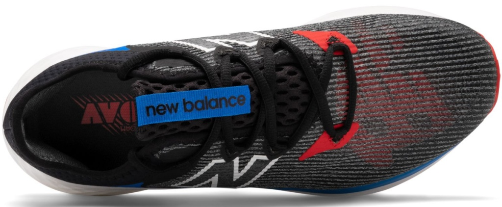 top view of New Balance shoes