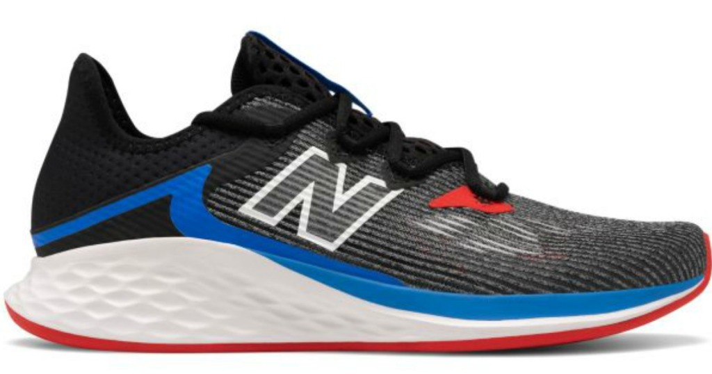 men's black red and blue sneaker