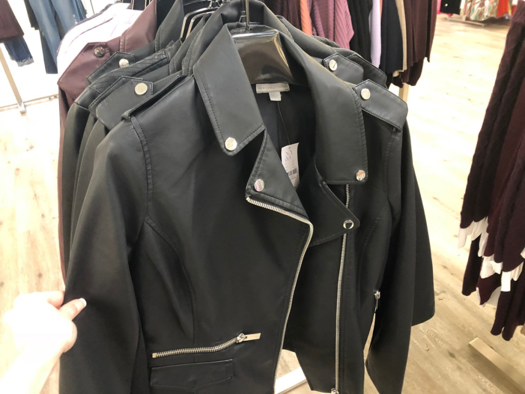 New York & Company Faux Leather Jacket at store