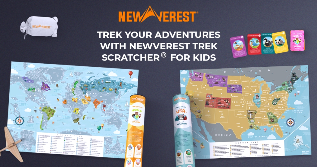 two scratch off maps