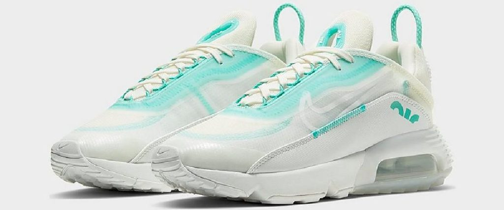 womens white and light green shoes