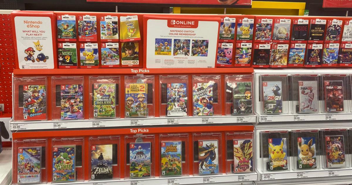 video games on shelf