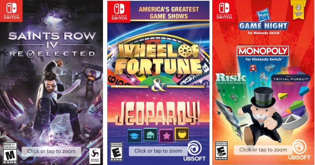 3 nintendo switch video games