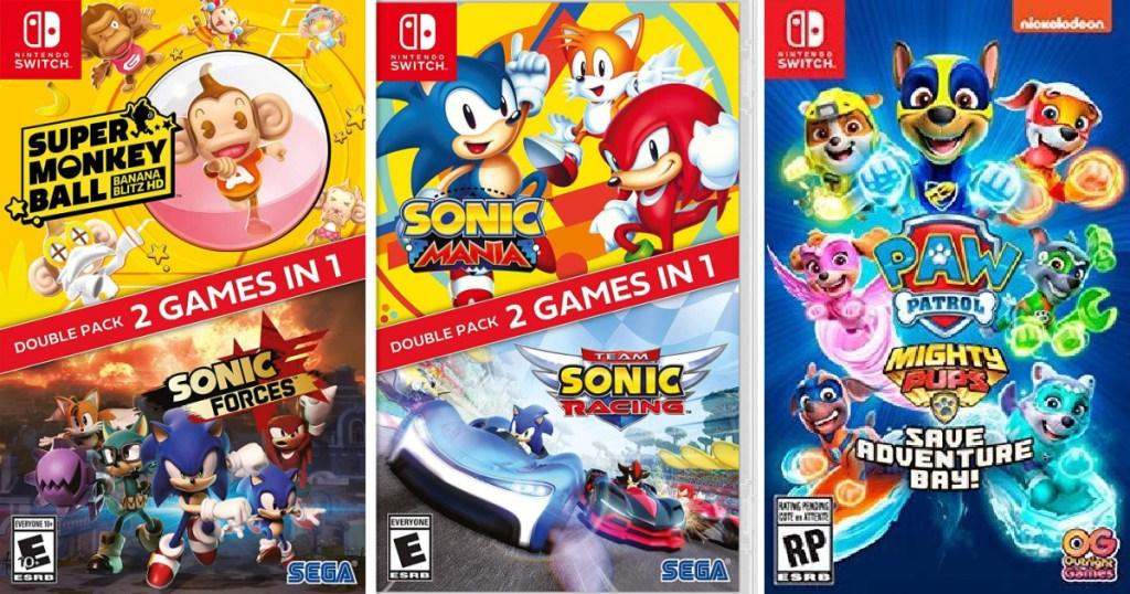 3 Nintendo Switch Video Games