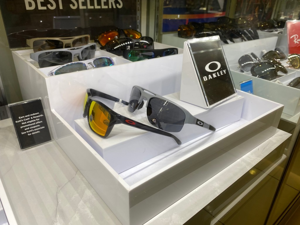 Oakley Sunglasses on display at Kohl's