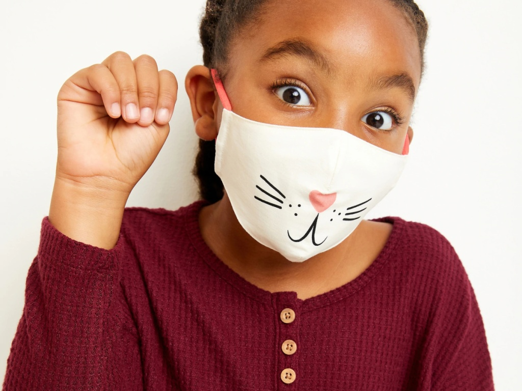 Old Navy 3-Pack of Triple-Layer Contoured Critter Kid's Face Mask