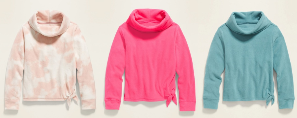 Old Navy Micro Performance Fleece Funnel-Neck Tunic for Girls