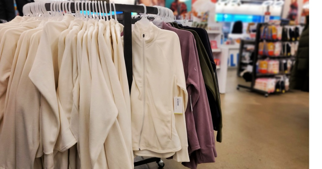 Old Navy Microfleece on rack at store