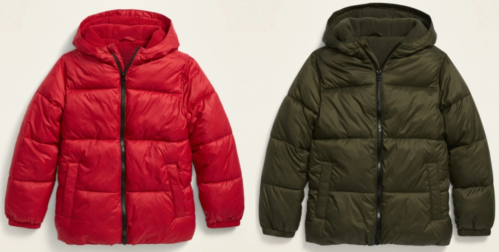 2 old navy frost free puffer jackets