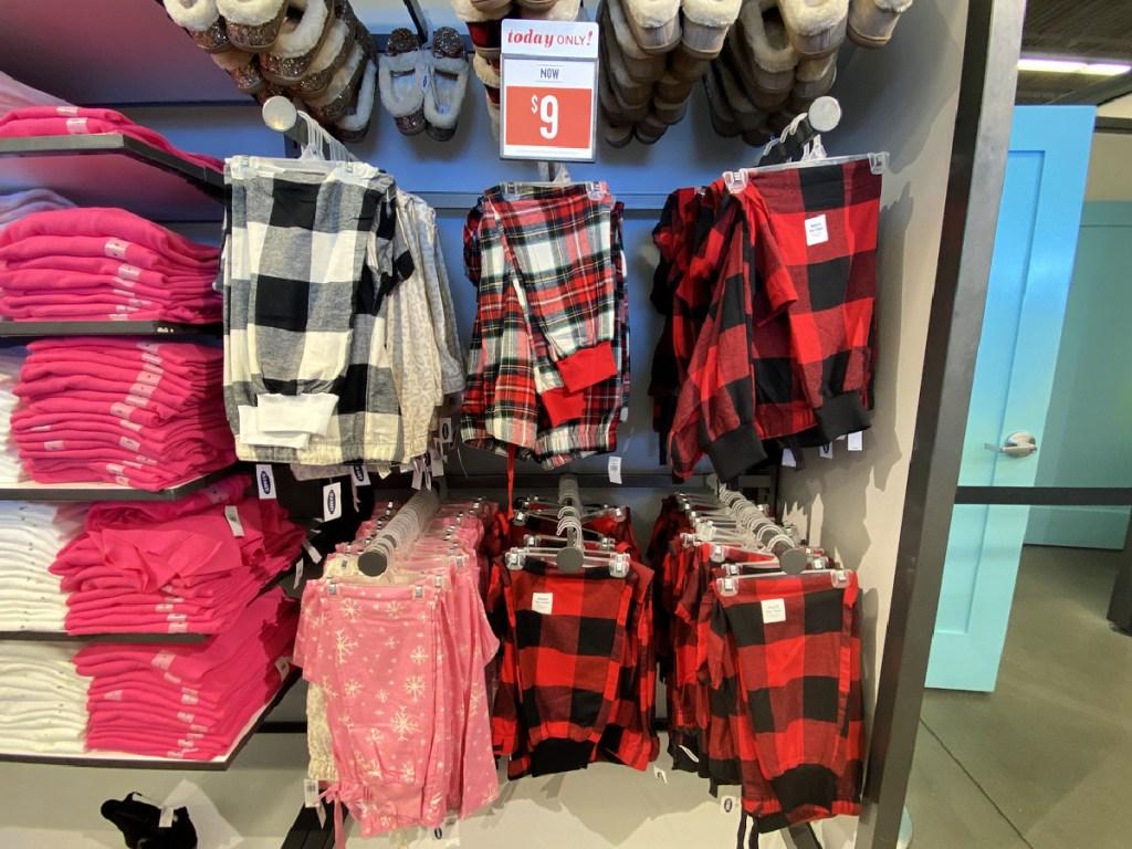 Old Navy Women's Flannel Pajama Pants on shelf