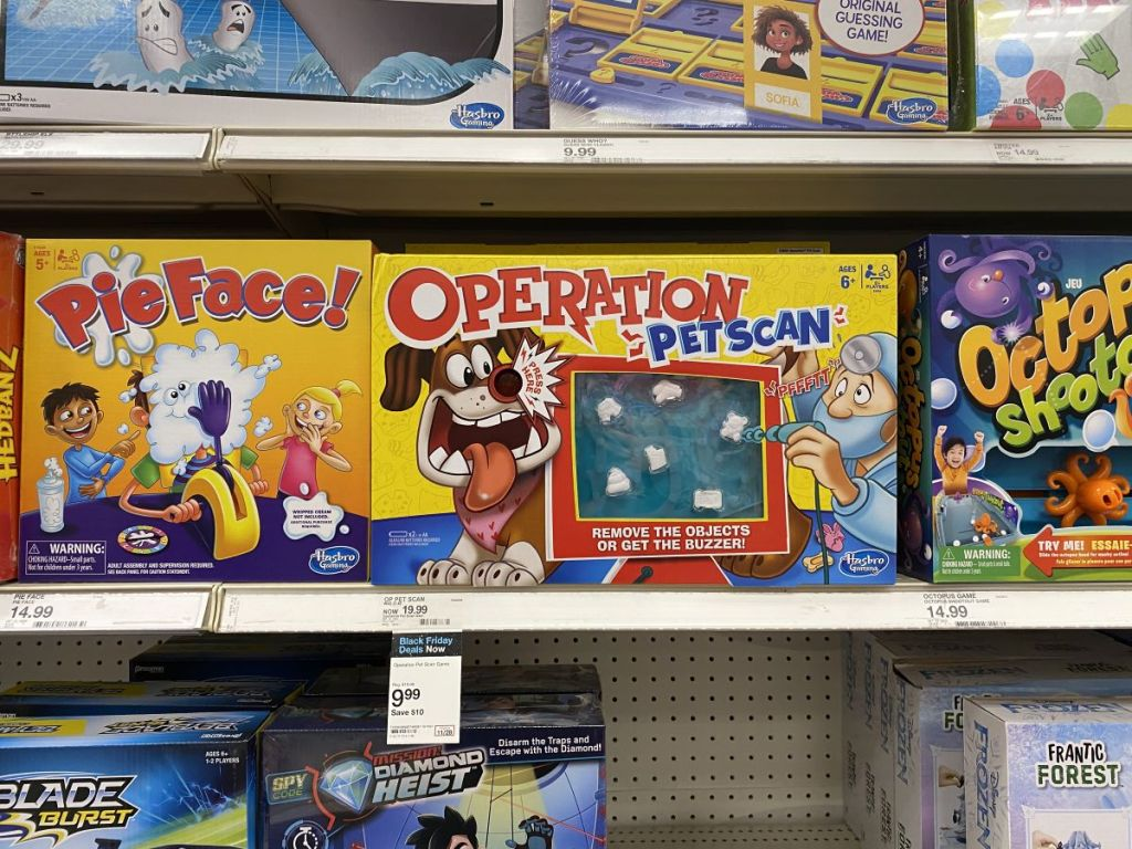 Operation Pet Scan game on the shelf at Target