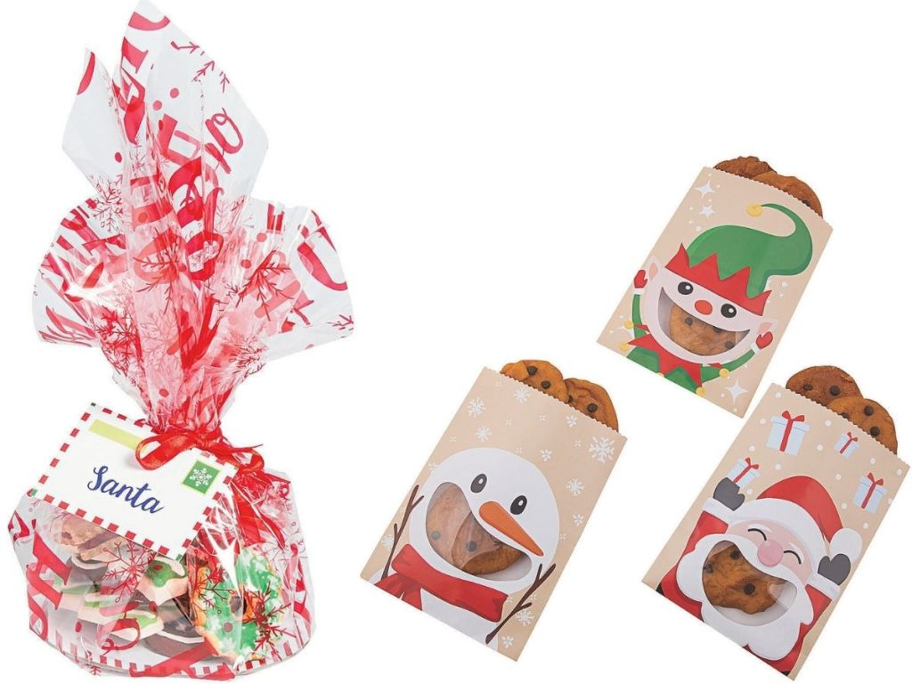 Oriental Trading Company Treat Plate set ad Holiday Paper Treat Bags