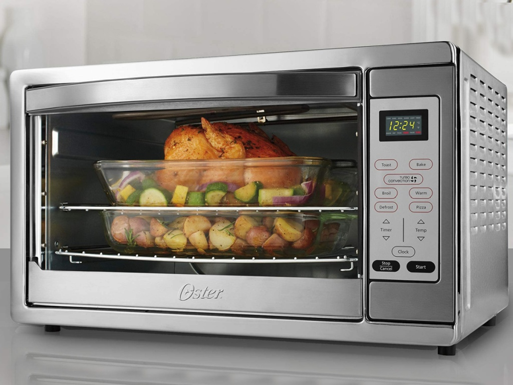 oster convection oven on kitchen counter
