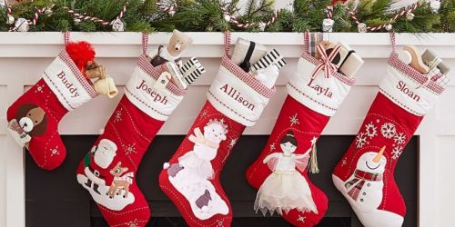 Pottery Barn Kids Christmas Stockings from $13 + Free Shipping | Disney, Baby's 1st Christmas & More