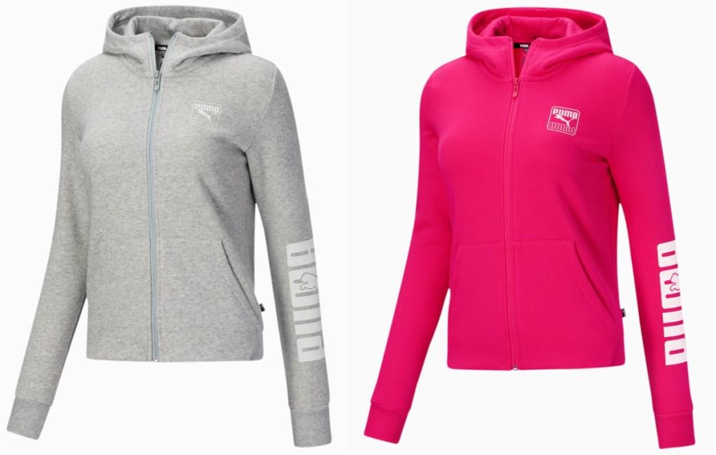 2 women's puma full zip hoodies