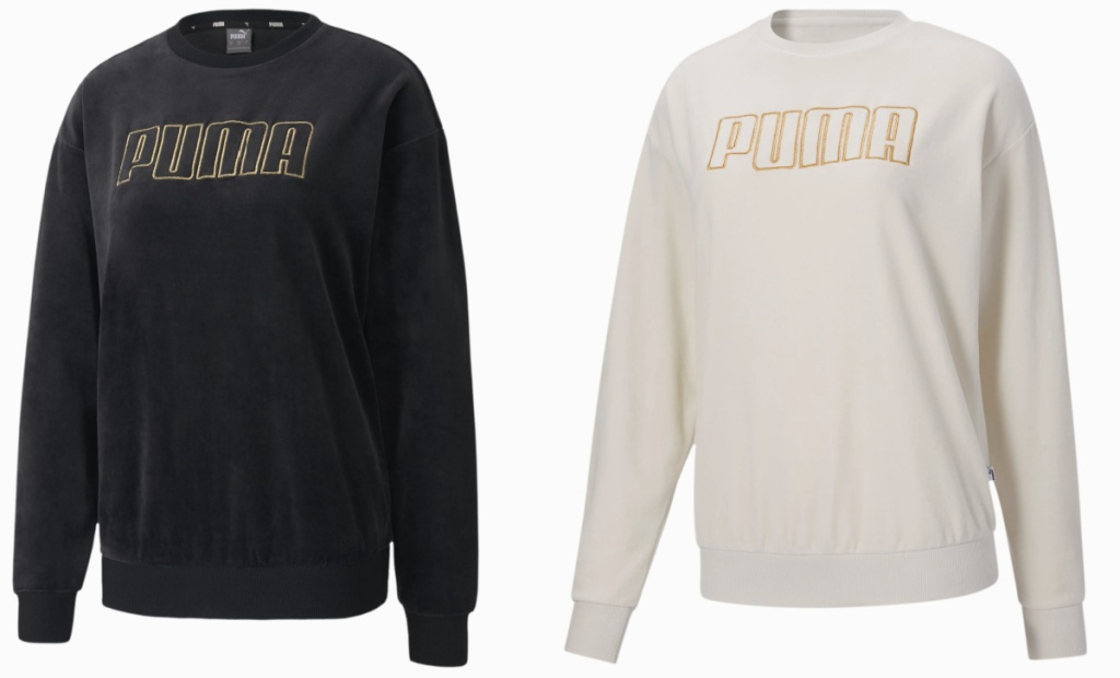 2 womens puma logo sweatshirts