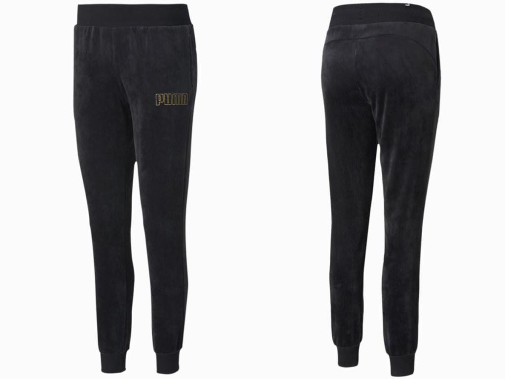 front and back velour puma women's sweatpants