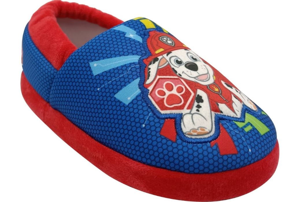 blue and red Paw Patrol slipper