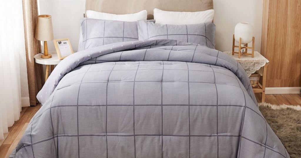 Peach Cotton 3-piece comforter set