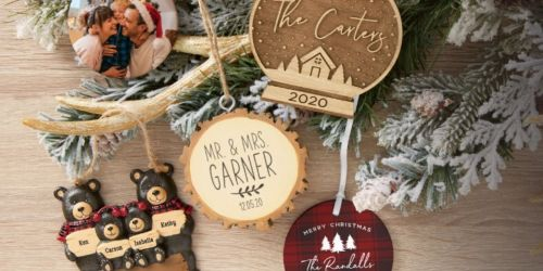 5 Personalized Ornaments Only $38.95 Shipped (Just $7.79 Each)