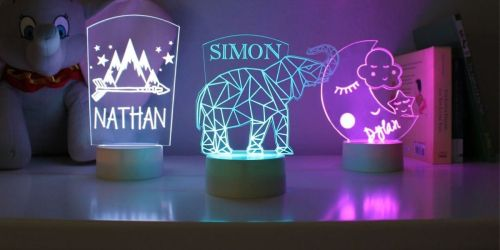 Personalized Kids Night Lights Only $23.99 Shipped | Awesome Gift Idea
