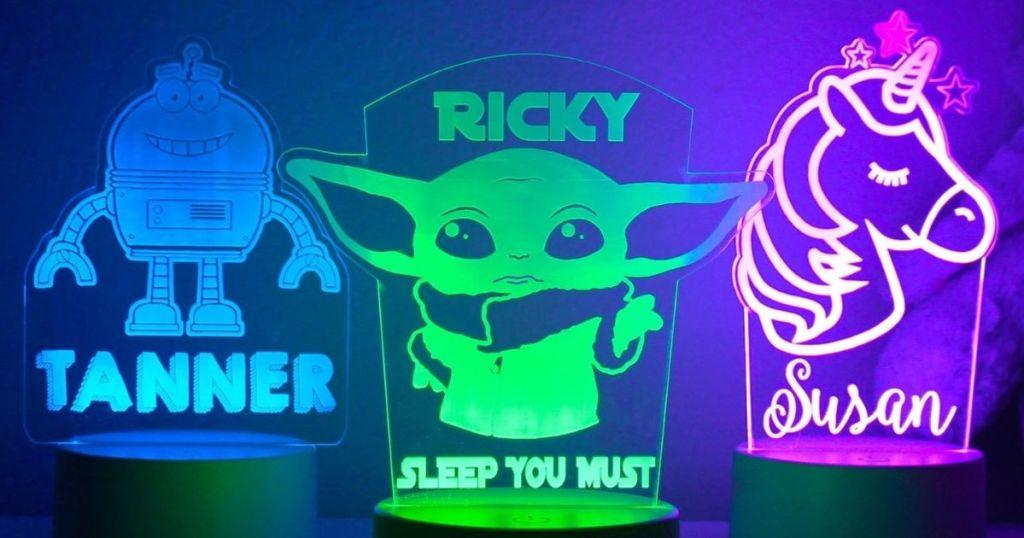 three kids nightlights