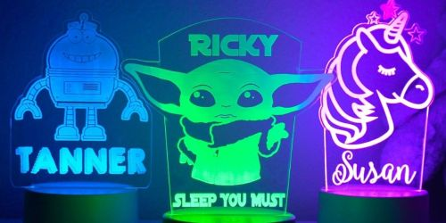Personalized Kids Night Lights Only $23.99 Shipped   Designs for All Ages
