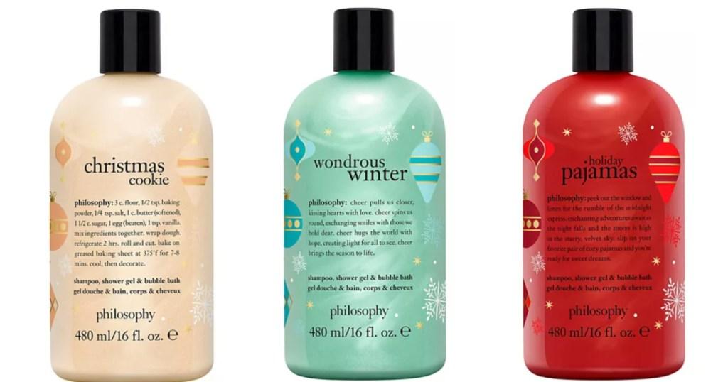 3 philosophy shower gels