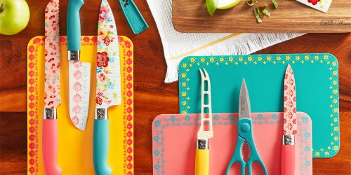 The Pioneer Woman 20-Piece Cutlery Sets Just $20 on Walmart.com | Includes 7 Knives & 4 Cutting Boards