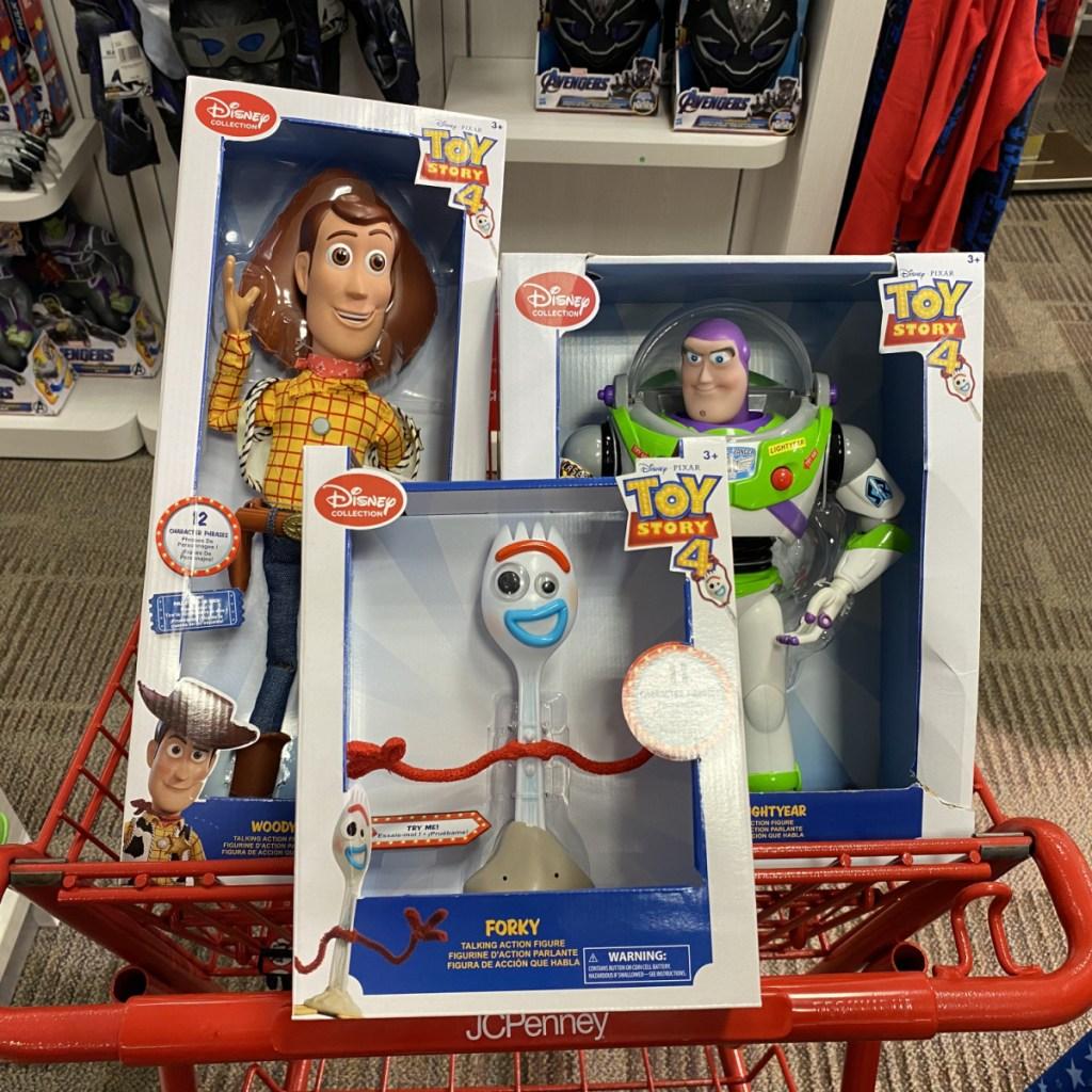 Pixar Toys in Cart
