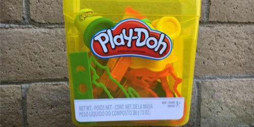 Play-Doh Fun Tub Only $7.48 on Amazon (Regularly $15) | Includes 5 Cans of Play-Doh & 19 Accessories
