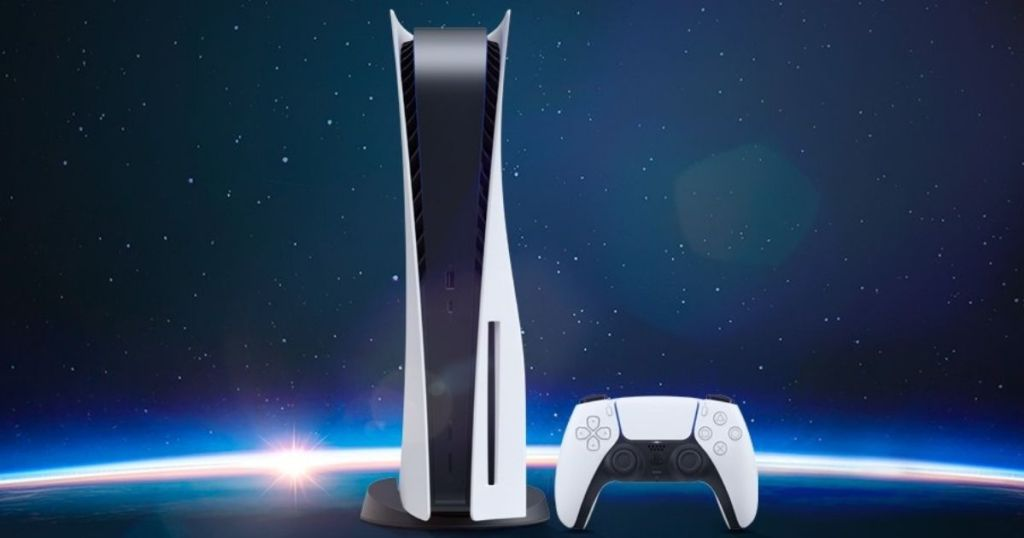 Playstation 5 console and controller