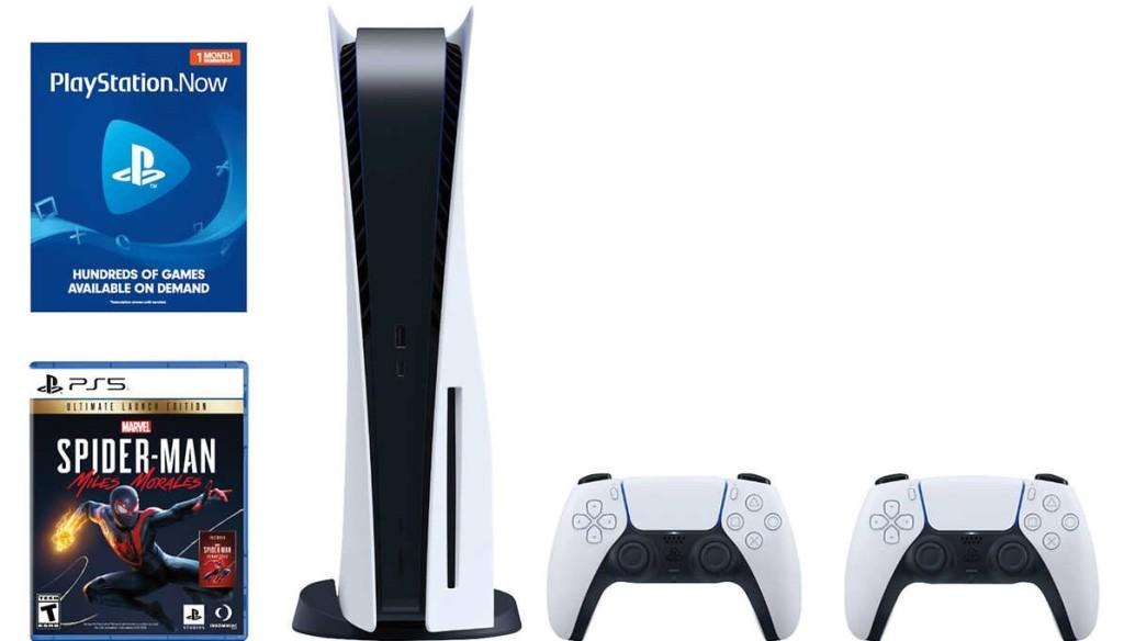 Playstation 5 bundle with controllers and games