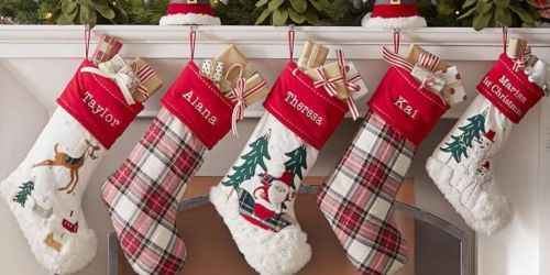 Up To 60% Off Pottery Barn Stockings For The Family or Advent Calendar + Free Shipping
