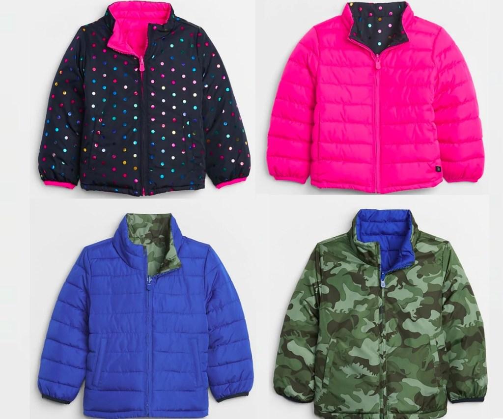 four kids puffer jackets