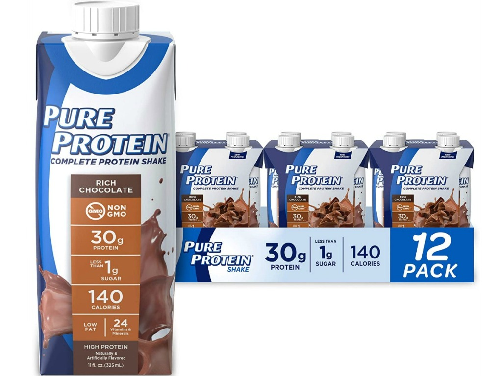 12 pure protein shakes packages up