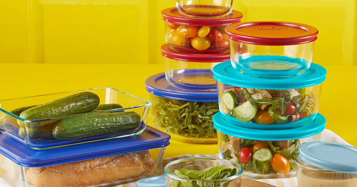 Large assortment of Pyrex containers