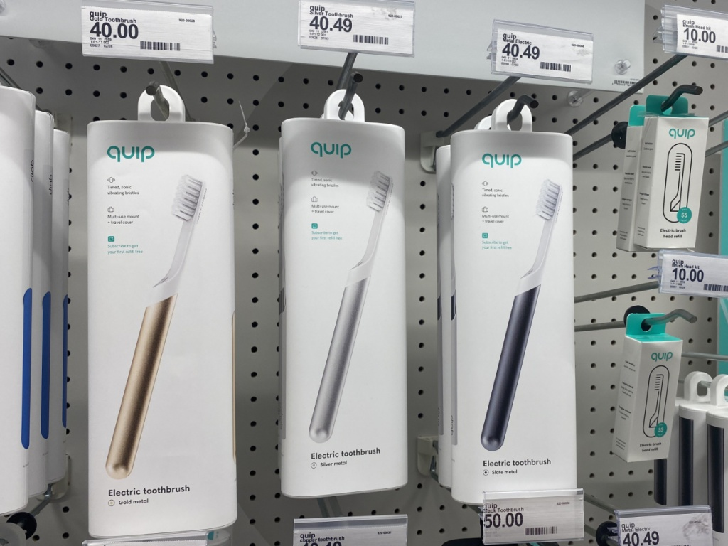 3 quip electric toothbrushes at target
