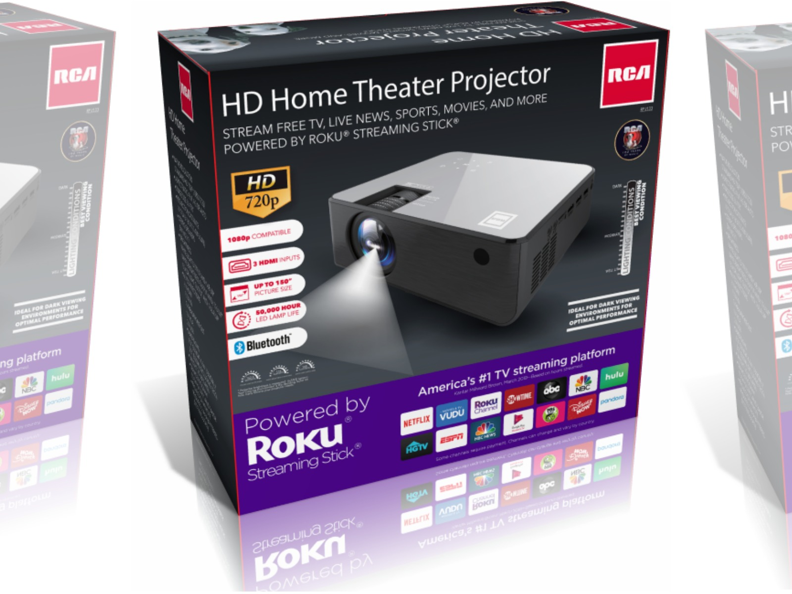 Large home theater projector in package