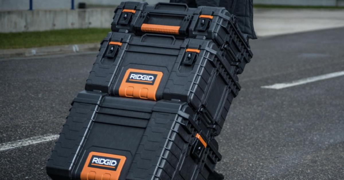 RIDGID brand tool storage