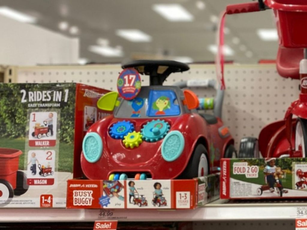 Radio Flyer Busy Buggy on Store Shelf