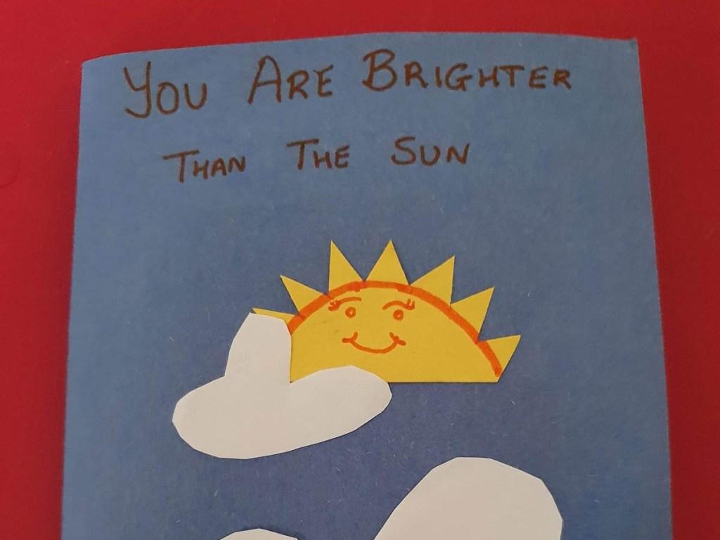 handmade sunshine card
